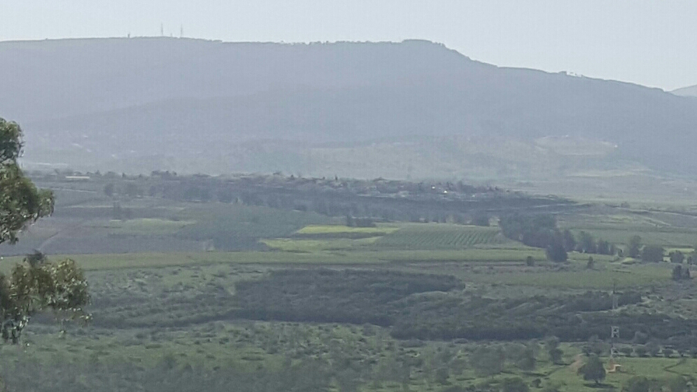 View of a beautiful Israeli Valley from the Golan Heights.