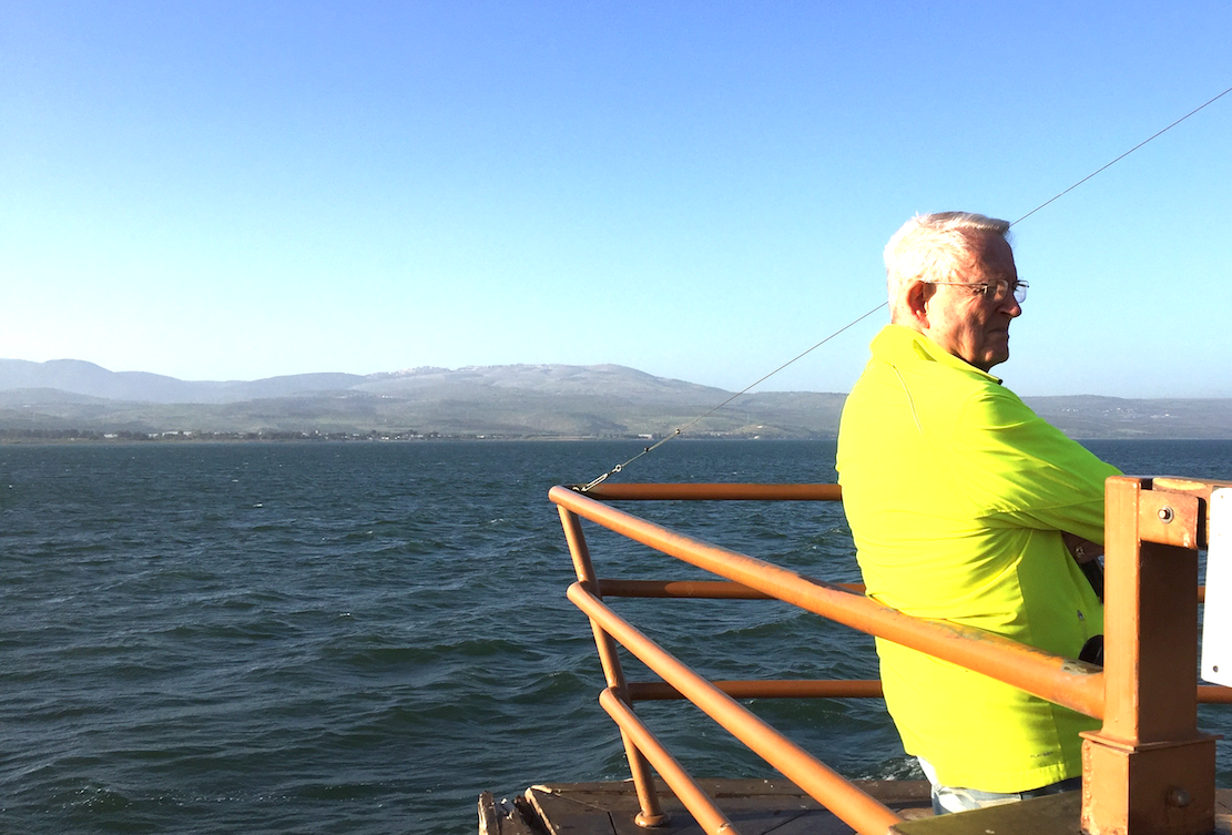 Chuck on the Sea of Galilee