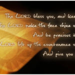 The Lord Bless You . . .
