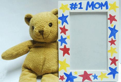 Teddy-Bear-with-#1-Mom-Frame