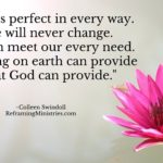 God is perfect in every way