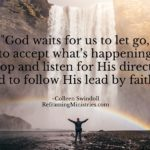 God waits for us to let go