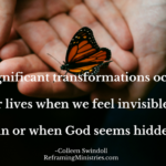 Significant transformations occur in our lives