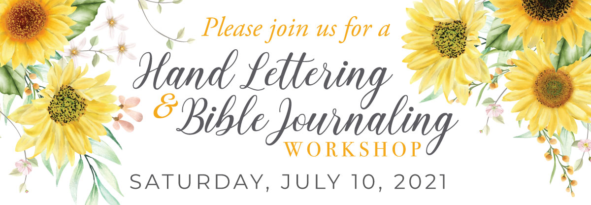July hand lettering and Bible journaling workshop